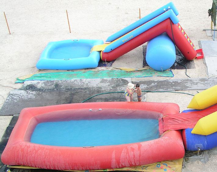 Самодельные горки для бассейнов